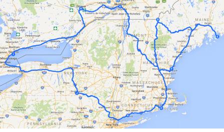 NE Itinerary